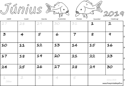 2019 naptár nyomtatható Naptár Június 2019 nyomtatható | Szabad fájlok PDF nyomtatás 2019 naptár nyomtatható