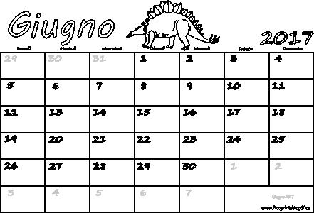 Calendario Stampabile.Giugno 2017 Calendario Pdf Stampabile Pdf Liberi Di Stampa