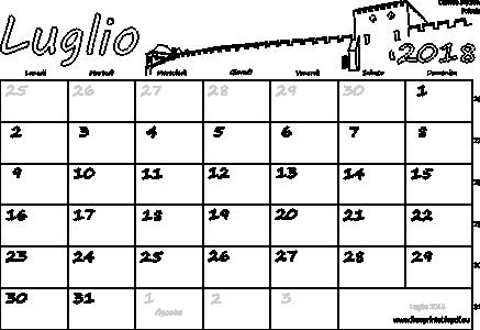Calendario Luglio 2018 Stampabile Pdf Liberi Di Stampa