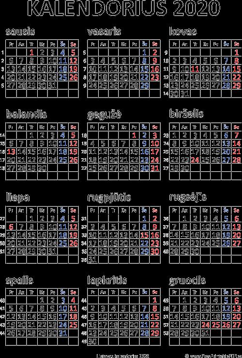 2020 Kalendorius.Kalendorius 2020 Iems Metams Pdf Nemokamas Spausdinamas Pdf