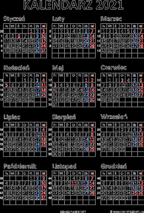 Kalendarz 2021 Do Druku Pdf Darmowe Pdf Do Druku
