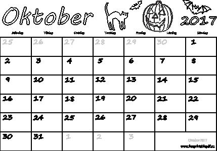 månads almanacka 2017
