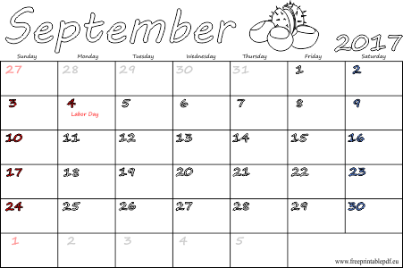 September 2017 US holidays