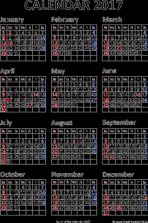 2017 republiek van suid afrika calendar
